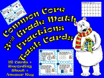 Common Core Third Grade- Fractions Workstation Fun!