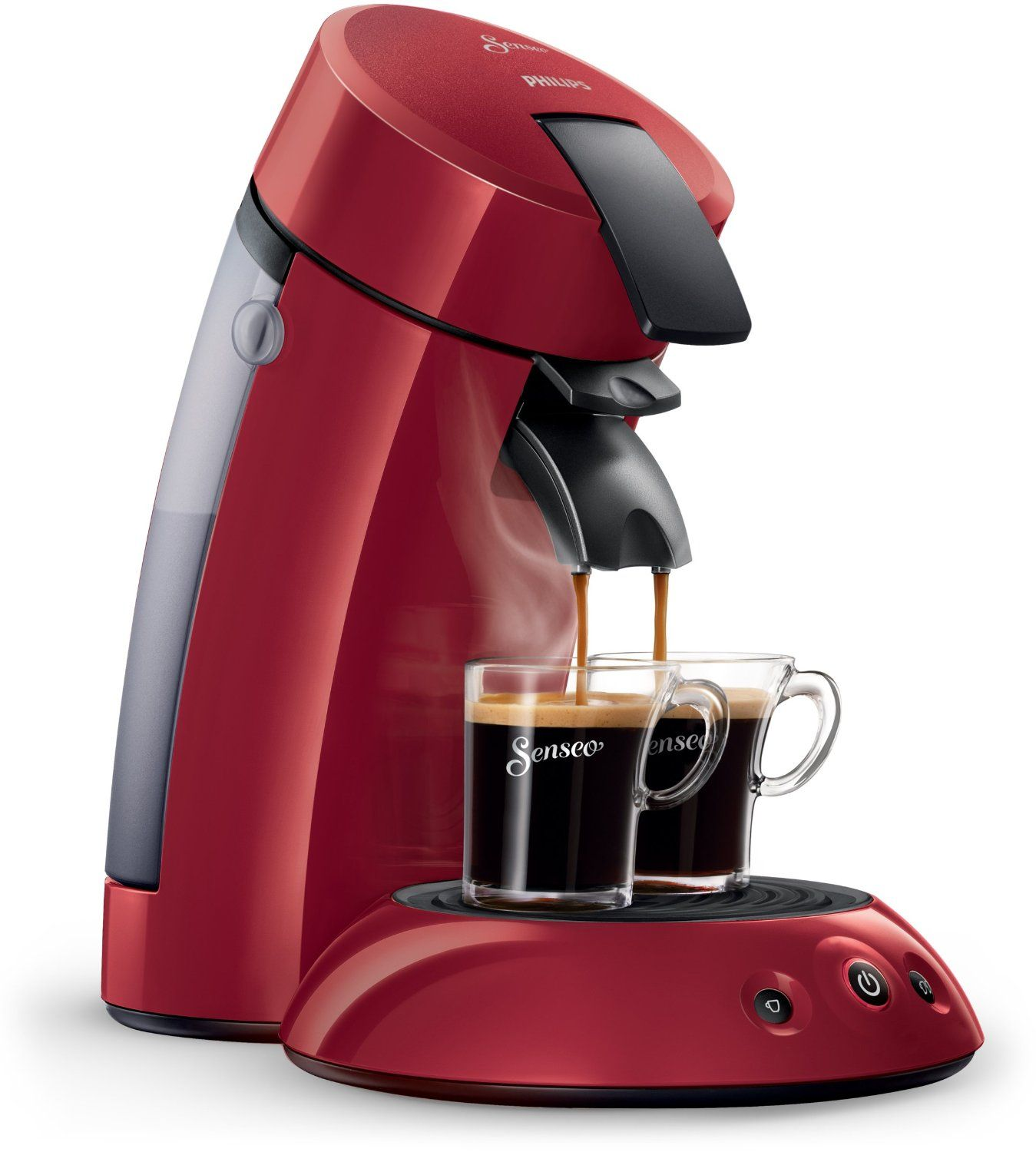 Senseo Original HD7817 Pod coffee machine 0.7L 5cups Red ...