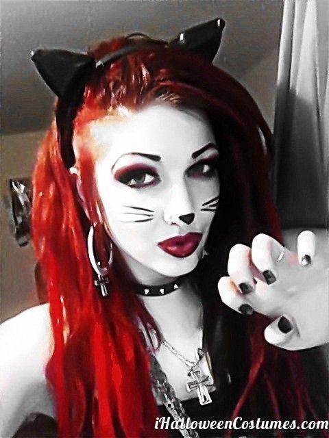 zombie cat makeup for Halloween - Halloween Costumes 2013 | Costume Ideas | Pinterest | Halloween halloween Halloween costumes and Costumes  sc 1 st  Pinterest & zombie cat makeup for Halloween - Halloween Costumes 2013 | Costume ...