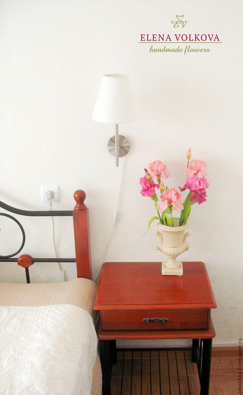 """Купить Ирисы из полимерной глины """"Утро в Раю"""" - цветы из полимерной глины, цветы ручной работы"""