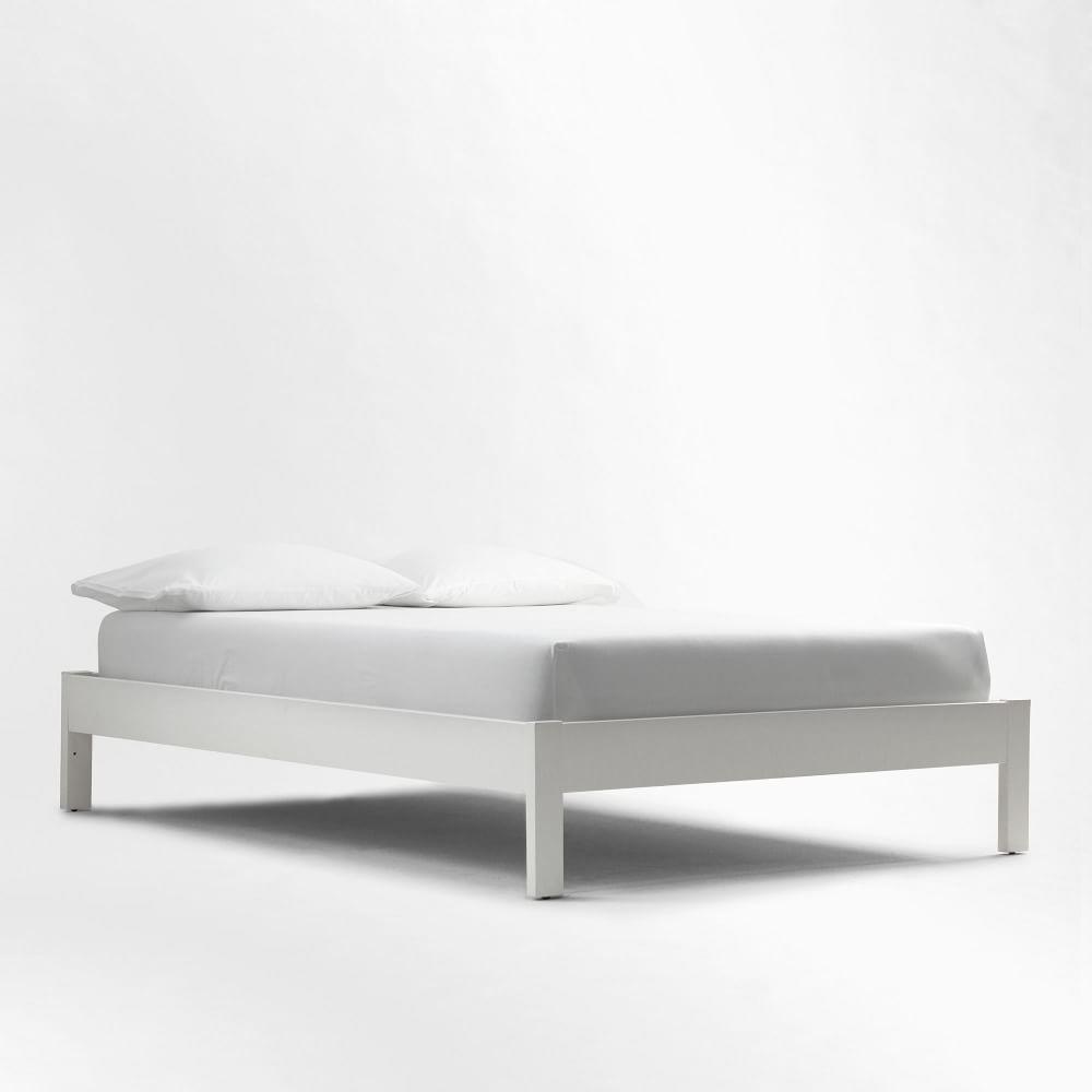 Simple Bed Frame - White | west elm $349 | Home | Pinterest