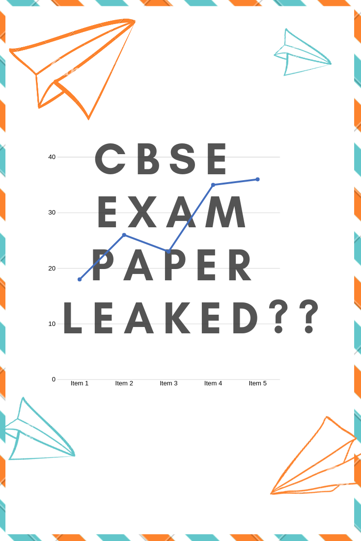 This pin is about the fake news that CBSE exam papers have been