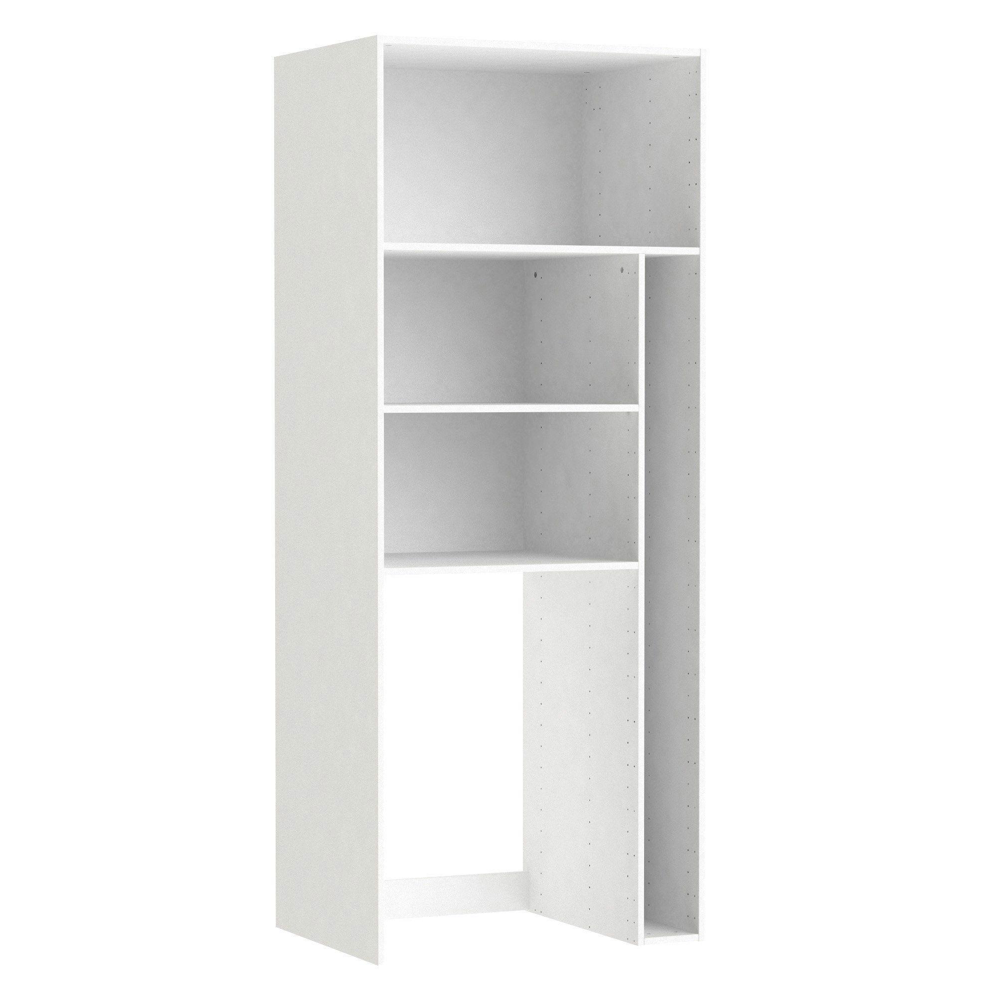 Caisson Spaceo Home Blanc H 200 X L 80 X P 60 Cm Meuble