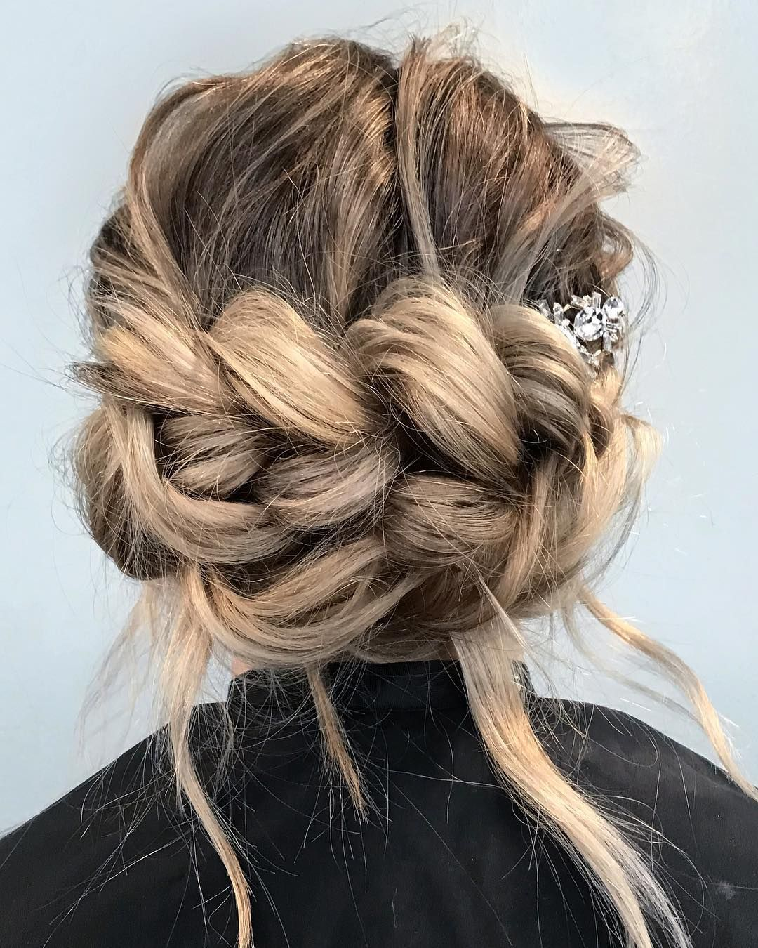 Pull through braid updo , braid hairstyle #braids #hairstyle #hairstyles