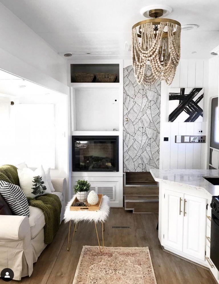 20 Inspiring Rv Makeovers Tidbits In 2020 Rv Living Room Rv Decor Rv Makeover #trailer #living #room #ideas