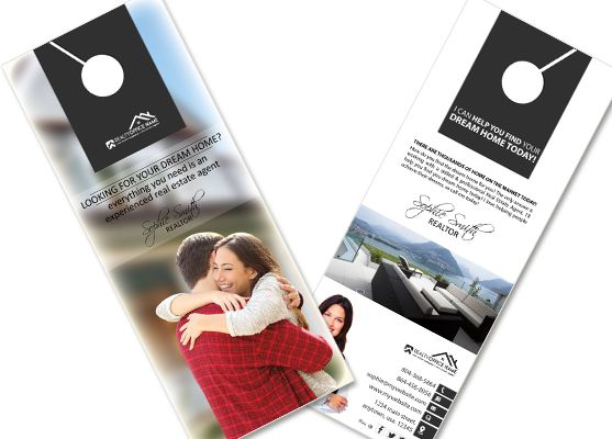 Real Estate Door Hanger Template real estate door hangers | creative real estate door hanger