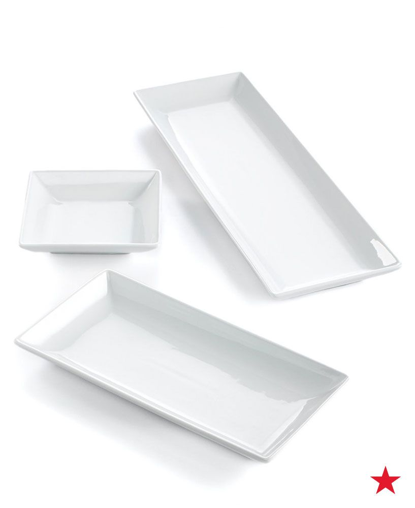 The Cellar Whiteware Nested Serving Trays Set Of 3 Created For Macy S Reviews Serveware Dining Macy S Tray Dining And Entertaining Serving Tray