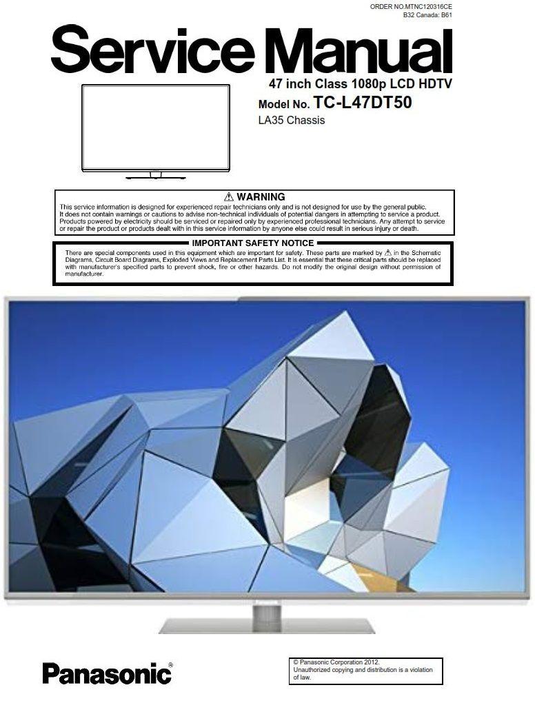 Panasonic Tc L47dt50 3d Led Tv Service Manual Schematics Tv Services Led Tv Panasonic