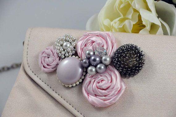 Embellished Vintage Pink Clu... from SilverBirdBoutique on Wanelo