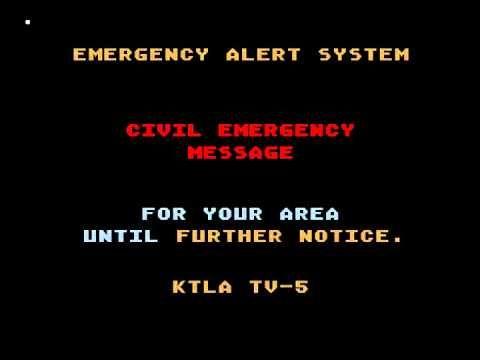 Los Angeles Nuclear Attack Mock Emergency Alert System Activation Emergency Alert System Funny Texts Emergency
