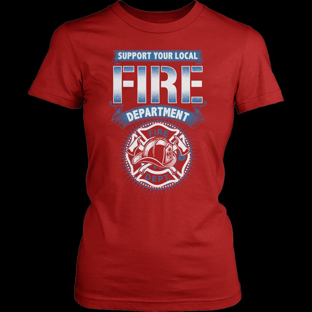 Firefighter T Shirt Design Support The Fire Department
