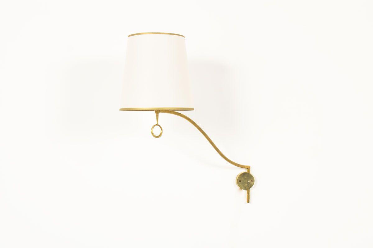 Applique vintage en laiton et abat jour beige lighting