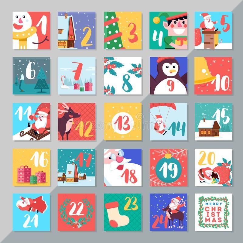 Christmas Holiday Advent Calendar Template Design Merry Xmas Da Ys Countdown G Sponsored T Christmas Card Template Christmas Advent Calendar Xmas Crafts
