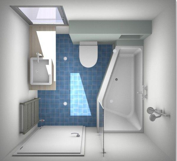 onze badkamer maar dan gespiegeld!