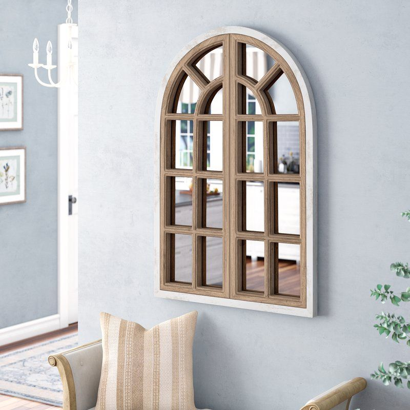 Veltri Farmhouse Arch Wall Mirror Farmhouse Mirrors Mirror Wall Wood Wall Mirror