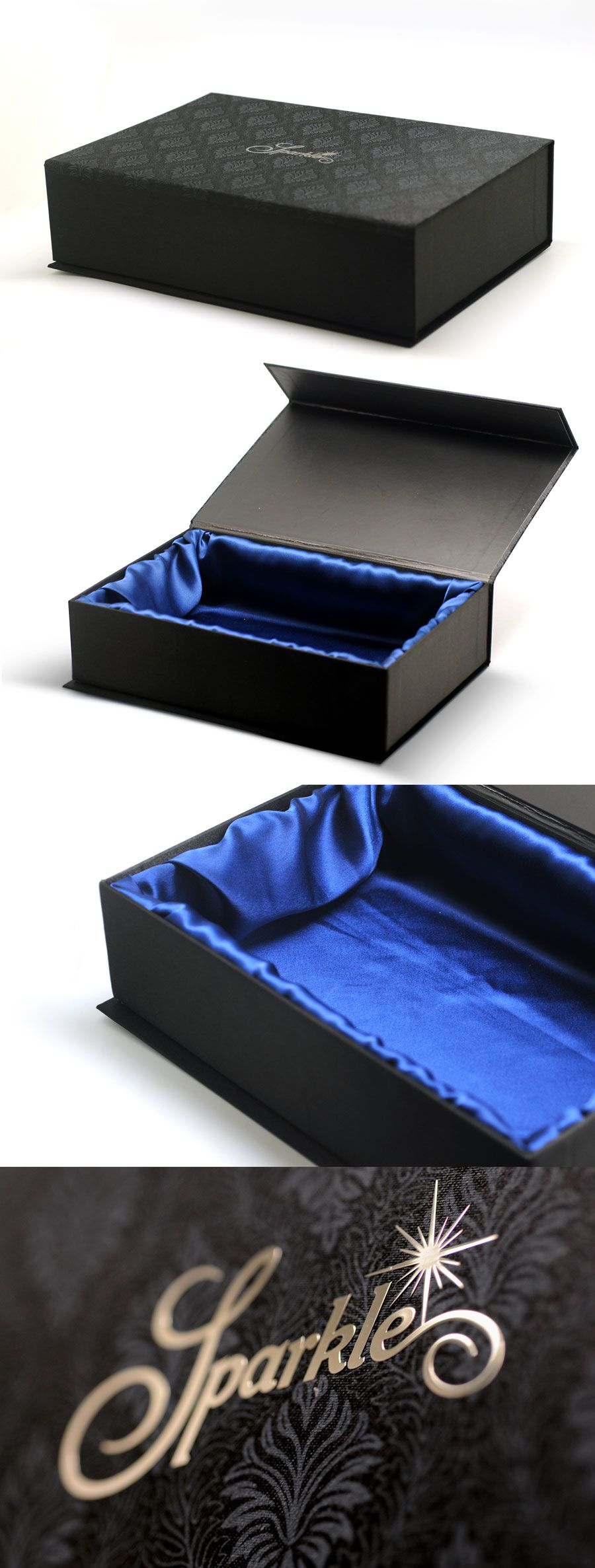 Luxury rigid box with cloth material luxury packaging