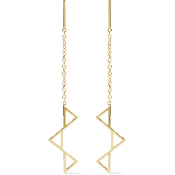 Dangle Earrings Hypoallergenic Steel BOXED Triangle with Chain /& Bar Drops