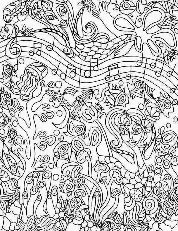 Music coloring sheet Music Coloring Pages for Adults Pinterest