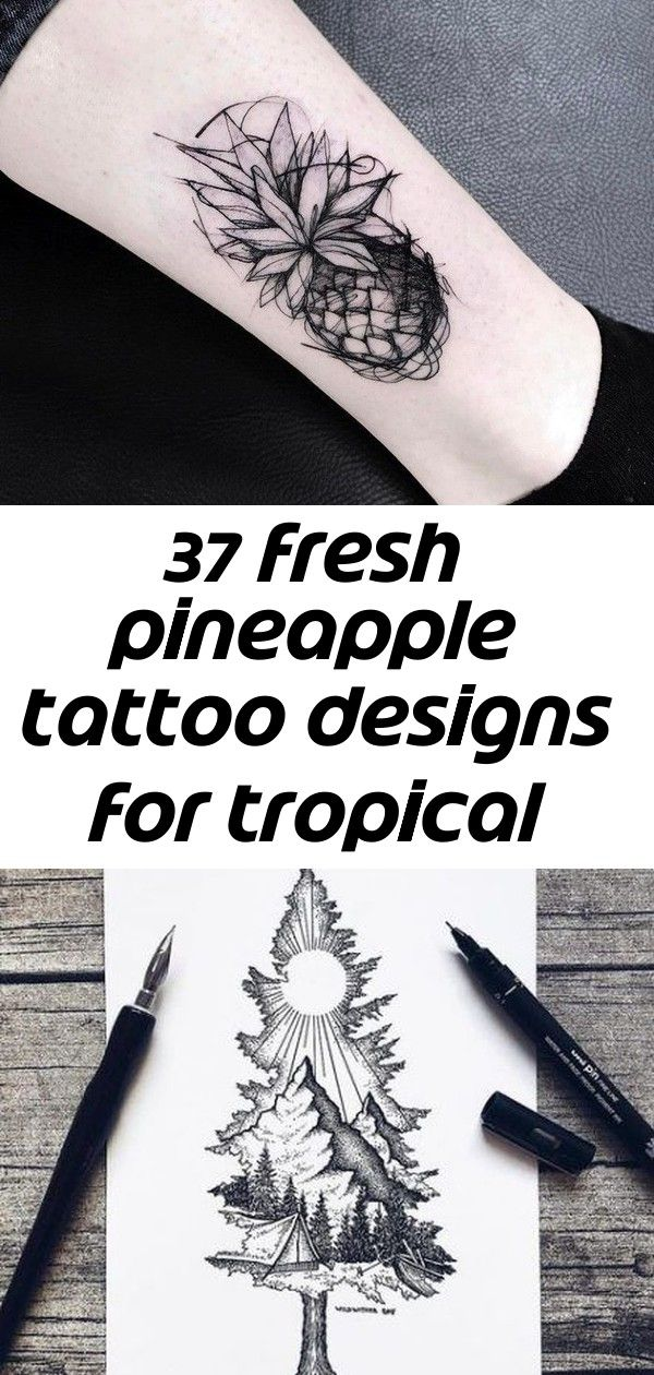 37 fresh pineapple tattoo designs for tropical vibes 10 Sketch Style Pineapple Tattoo by katyageta Best Tattoo Ideas Inspiration Draw Sketch Ideas