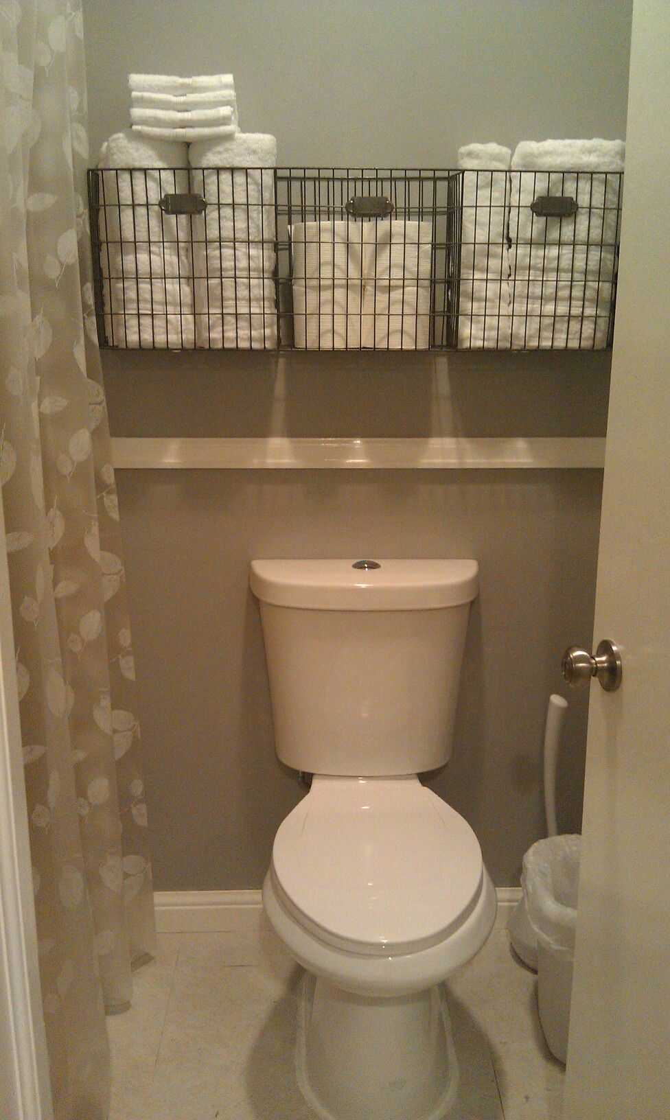 Bathroom Towel Storage   If You Want To Have Many Of Towel Storage For Your  Bathroom, Go Building A Custom Shelf To Suitable Your Necessities.