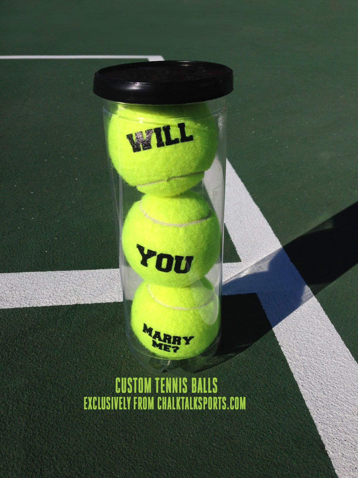 How Adorable Is This Tennis Proposal Made With Our Custom Tennis