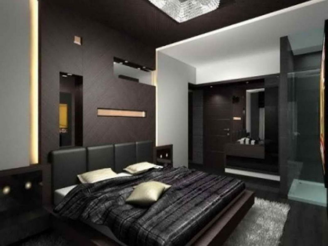Dark Red Paint Bedroom Interior Designing