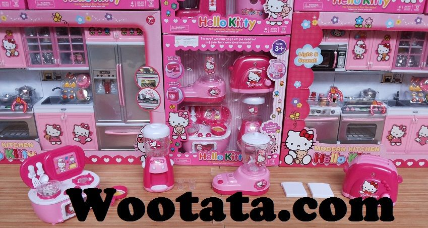 Jual mainan peralatan dapur hello kitty terlengkap girls for Jual peralatan kitchen set