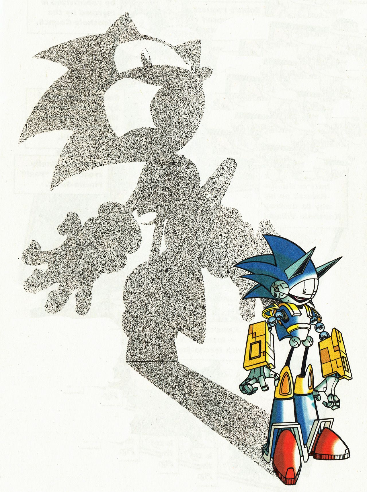 Sonichedgeblog The Credits Page Art From The Mecha Madness 48 Page Special Of Archie Comic S Sonic The Hedgehog Sonic Hedgeblo Sonic Art Robot Art Art