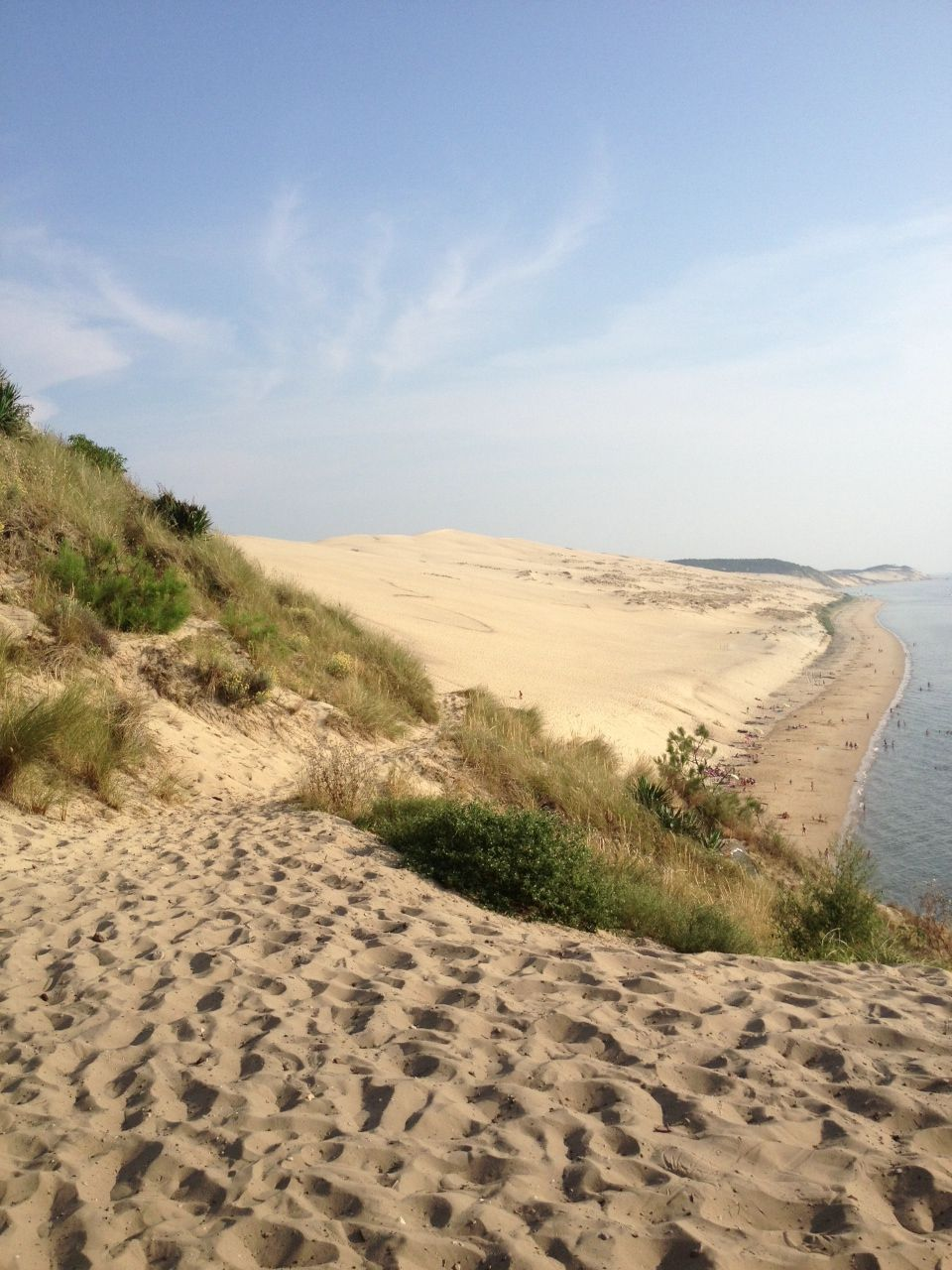 vue de la dune du pyla depuis la corniche bassin d 39 arcachon je me souviens pinterest. Black Bedroom Furniture Sets. Home Design Ideas
