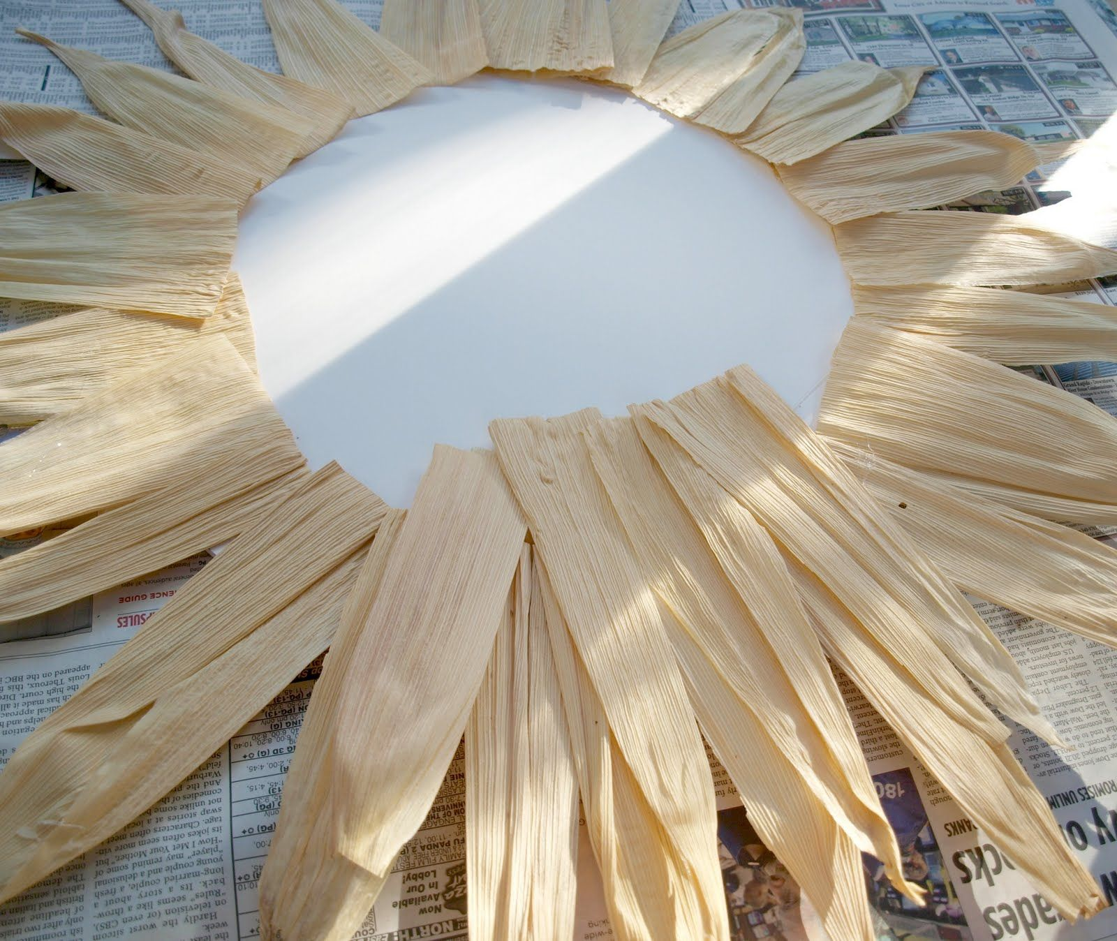 to make corn husk wreath - Google Search
