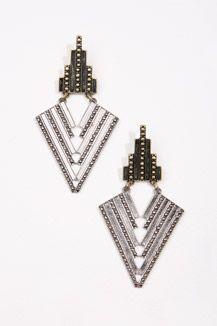 Elaborate Geo Chandelier Earrings