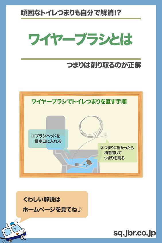 ワイヤーブラシの選び方と使い方とは トイレつまりを物理的に直す方法 直す 解説 使い方