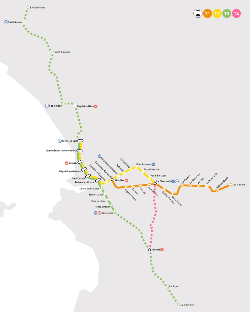 Le projet de réseau pour 2023 selon le plan de déplacements urbains.