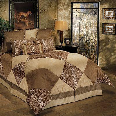 cheetah print bedding kohls sherry kline safari 8pc comforter set