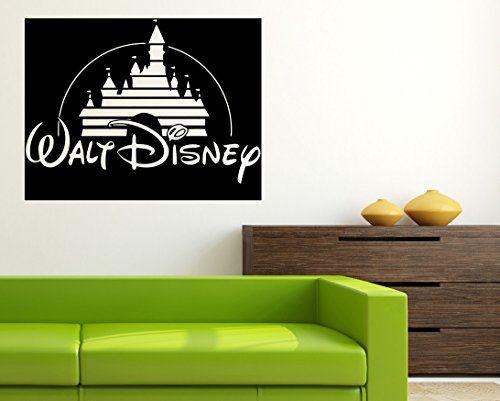 walt disney logo vinyl poster cartoon wall disney vinyl sticker