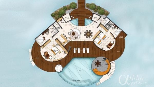 W Retreat Maldives Resort Spa Photos By Alpha Maldives Tempat Pernikahan Desain Arsitektur