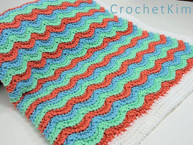 Wavy Hugs Baby Blanket Crochetpattern By Kim Guzman Free Easy