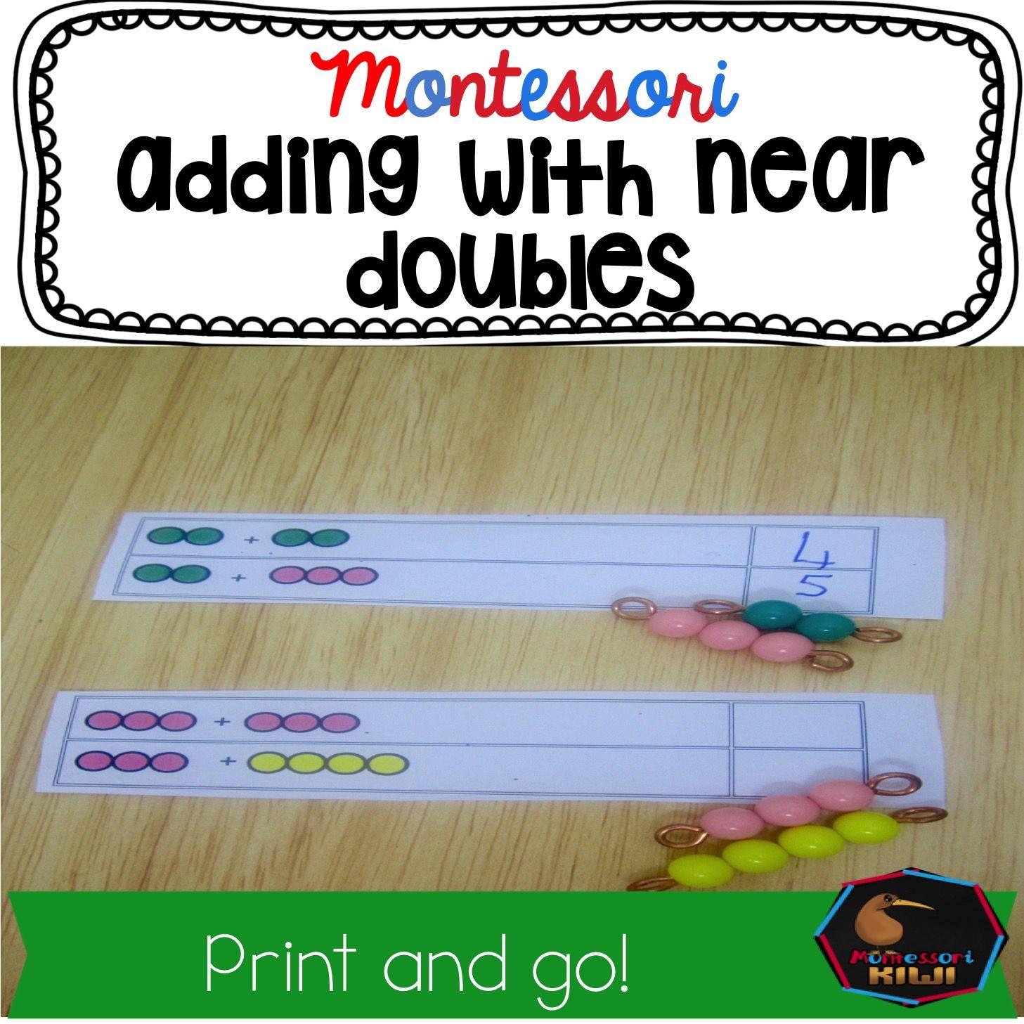 Near Doubles Doubles Plus 1 Uses Montessori Beads