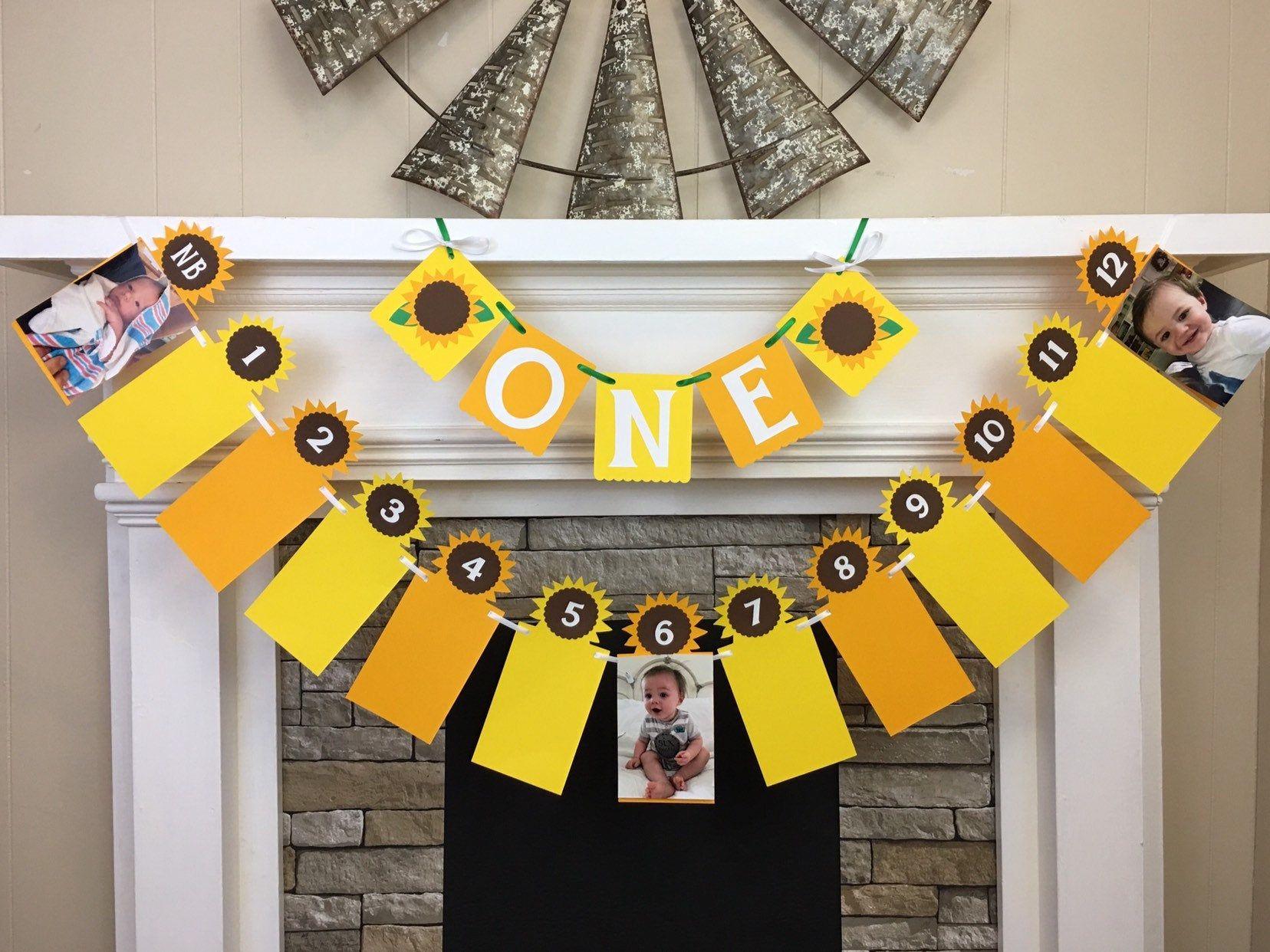 Sunflower First Birthday Decorations Sunflower Banner I am ...