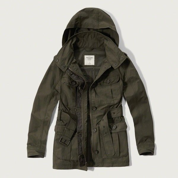 Abercrombie & Fitch Lightweight Military Parka ($99) ❤ liked on ...