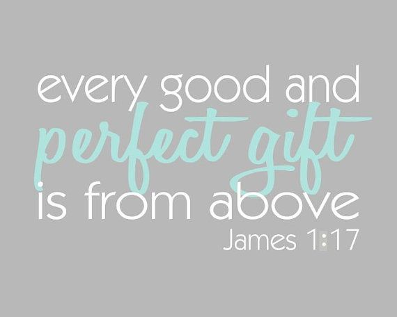 Every Good and Perfect Gift is From Above - Aqua and Grey Family ...