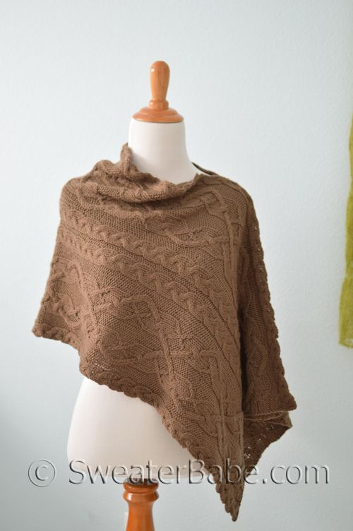 202 Truffles Stole PDF Knitting Pattern | Ponchos, Lana y Capilla