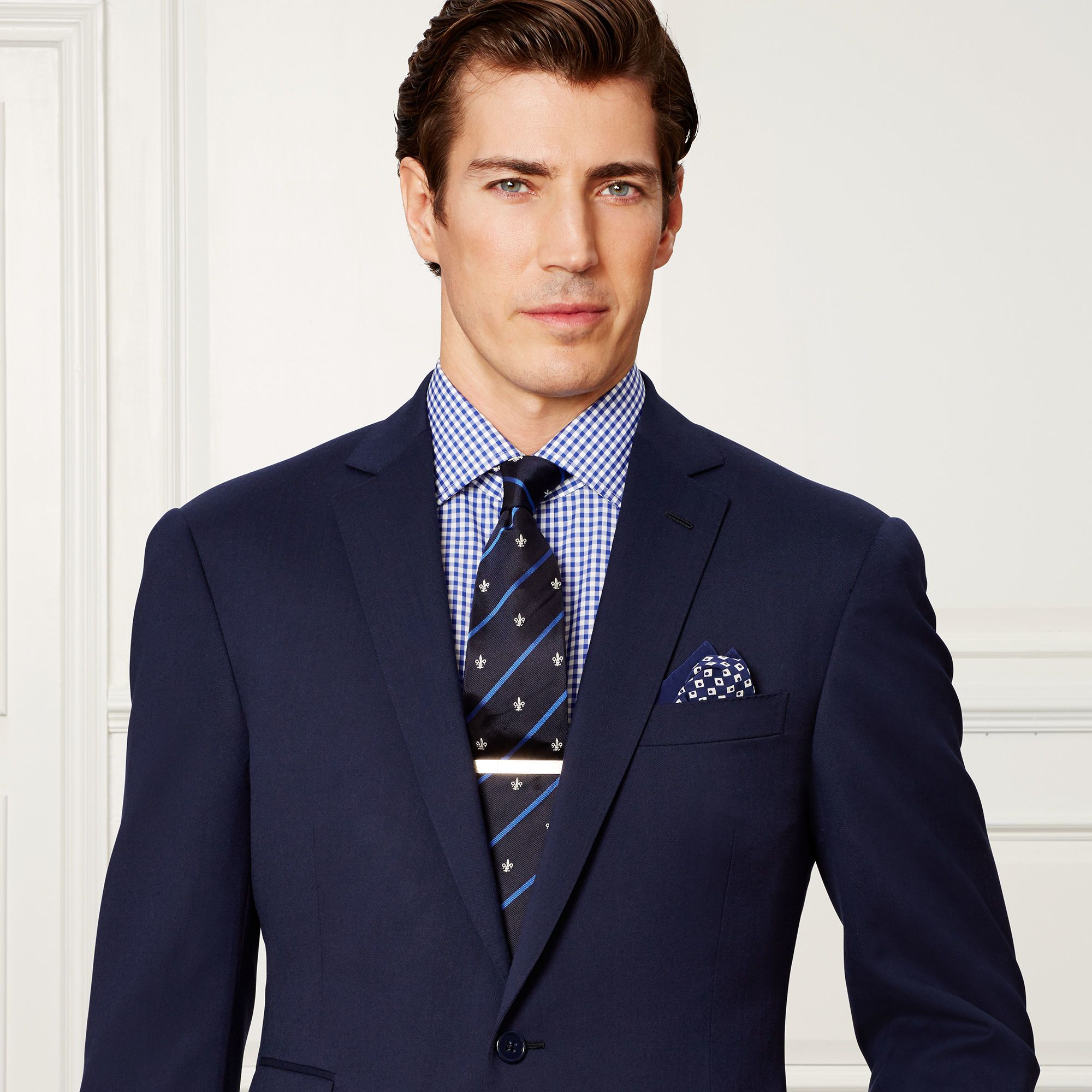 Ralph Lauren Purple Label Spring Navy Drake Wool