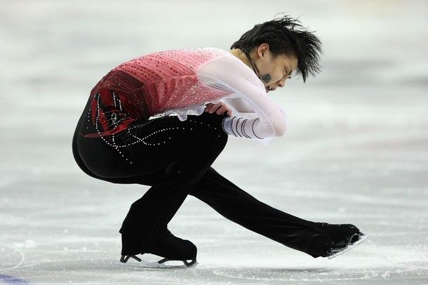 LONDON, ON - MARCH 15:  Yuzuru Hanyu of Japan competes in the Mens Free Skating during the 2013 ISU World Figure Skating Championships at Budweiser Gardens on March 15, 2013 in London, Canada.