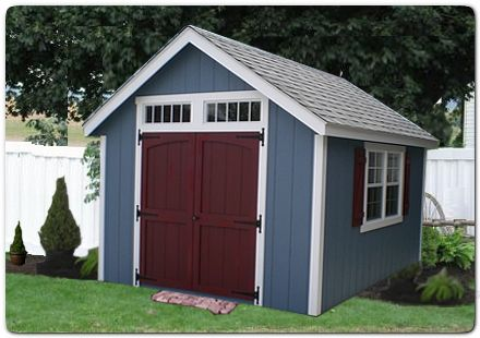 Garden Sheds Northern Virginia blue shed red door - google search | barns and sheds | pinterest