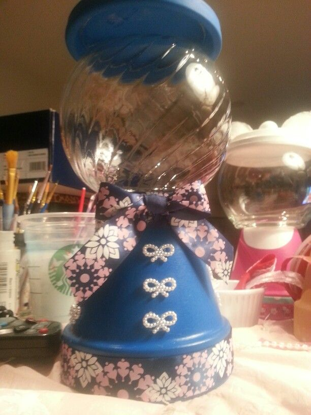sandylandya@outlo… Blue white and pink gumball machine.