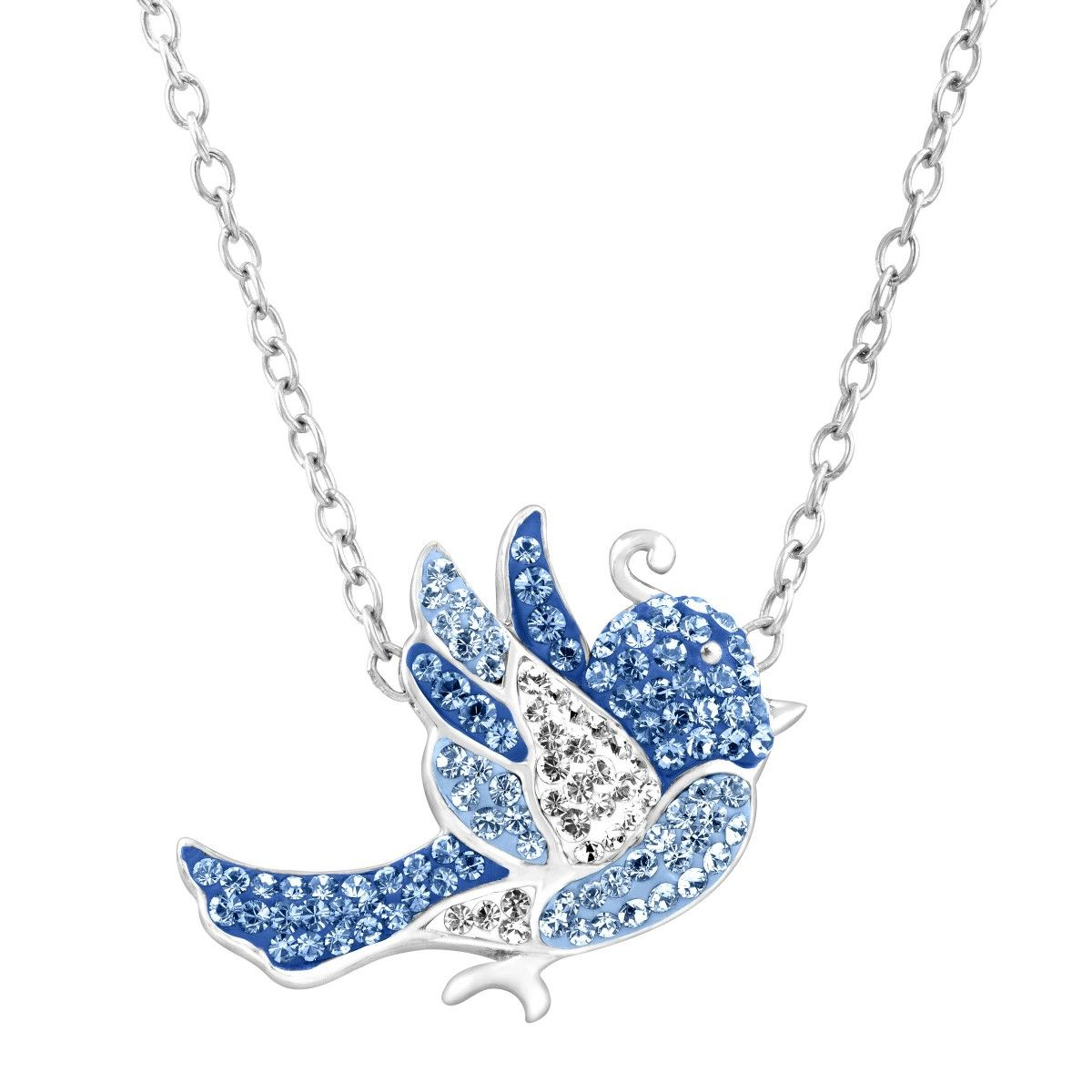 6308c8dd0 4/1/16 - CRYSTALUXE Bluebird Necklace with Swarovski Crystals in Sterling  Silver