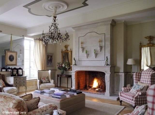 Cheminee baroque salon country french fireplaces pinterest salons sitt - Customiser une cheminee ...