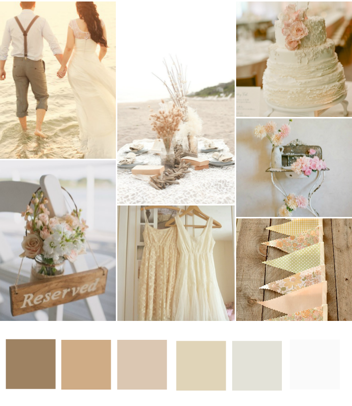 country wedding color schemes colour schemes different grades of and blush pink 27924
