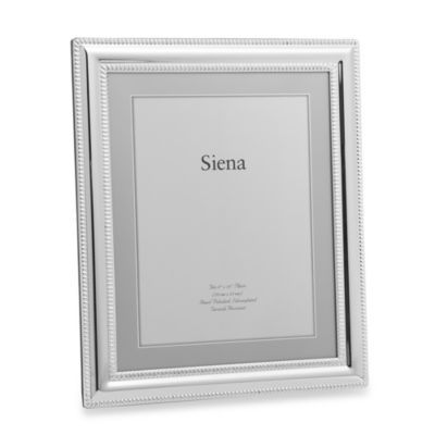Siena Silverplated Double Bead Border 8 Inch X 10 Inch Frame Frame Wedding Frames Siena